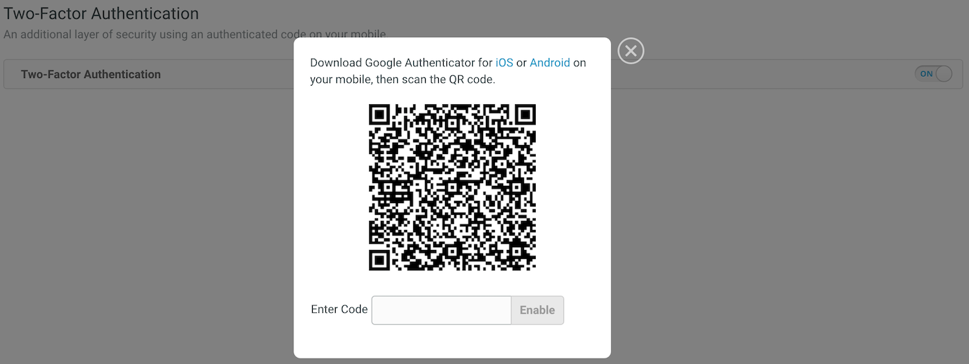 Set Up Two-Factor Authentication (2FA)