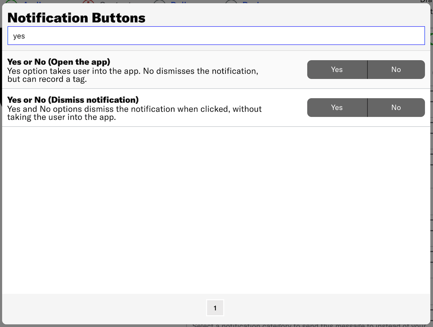 Custom Notification Buttons
