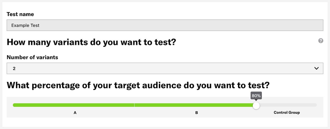 Create an A/B Test