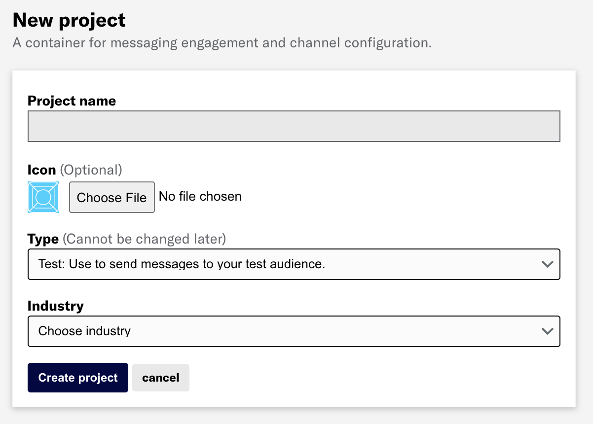 Create a messaging project