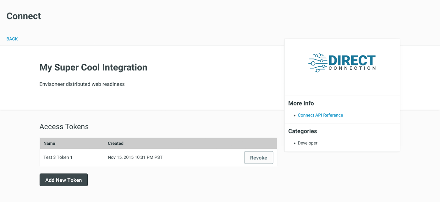 Manage Connect Integrations