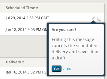Engage: Edit Scheduled Messages
