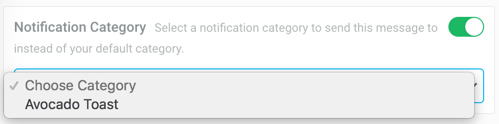 Android Notification Categories