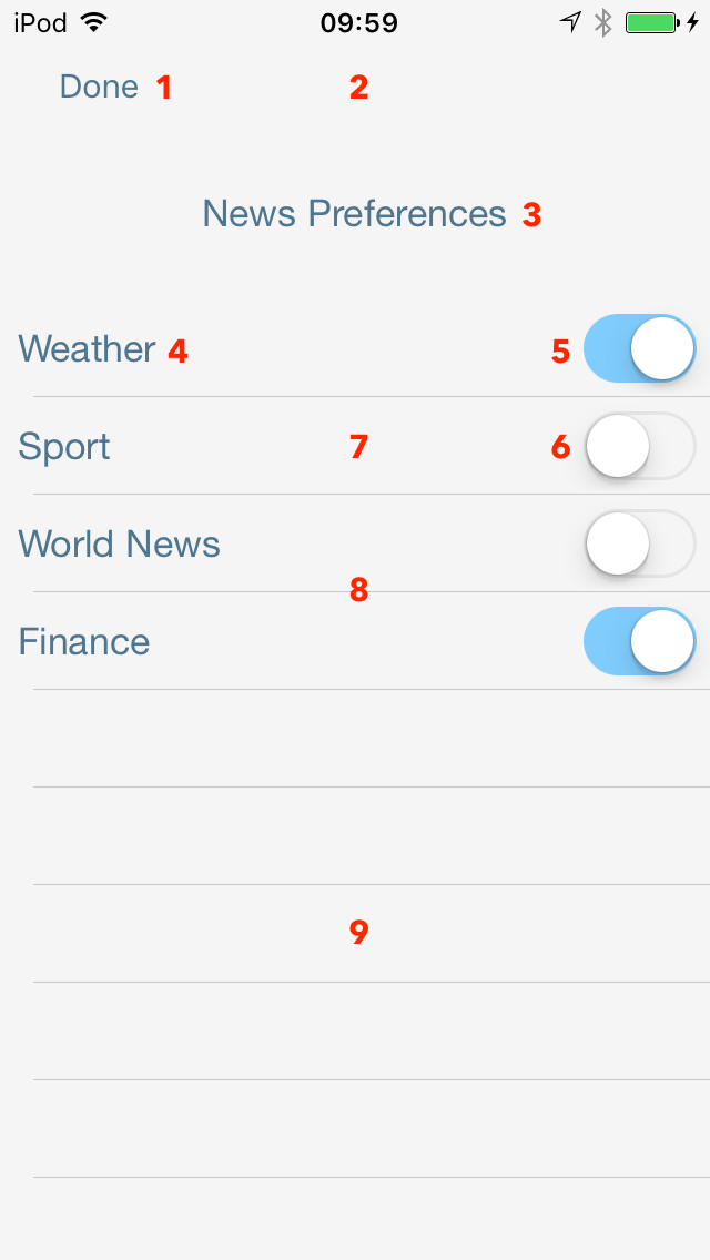 Customize the iOS Preference Center