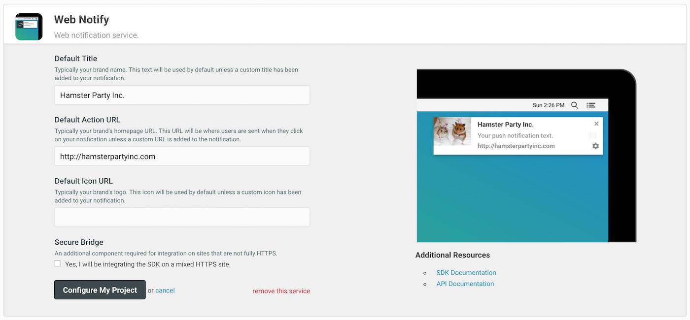 Web Notify