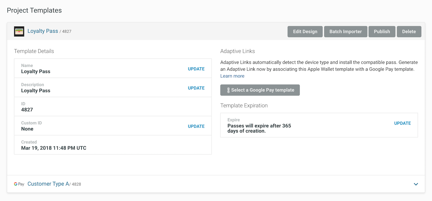 Create Adaptive Links from the Dashboard