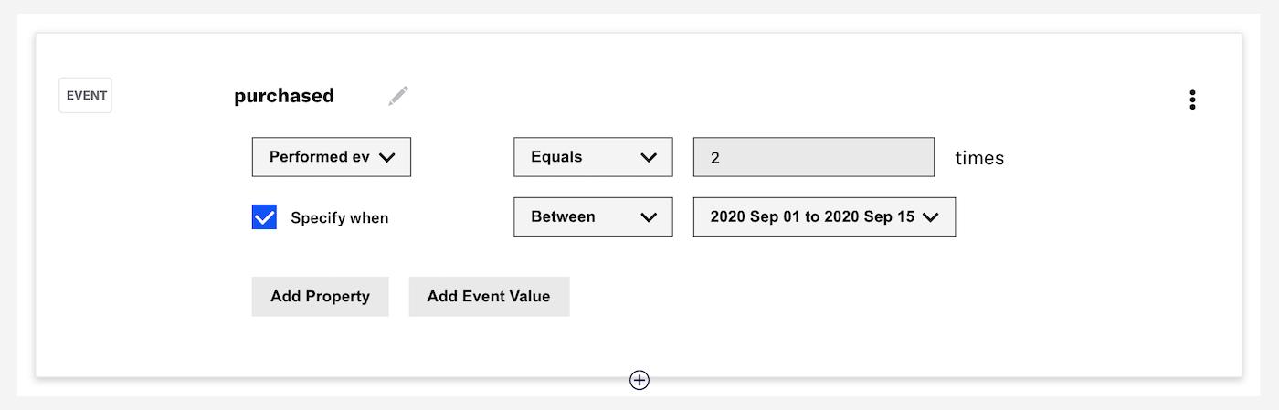 Dashboard Support for Event Segmentation