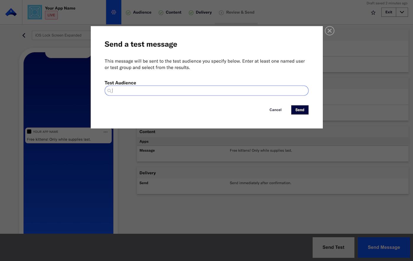 Send Test Messages