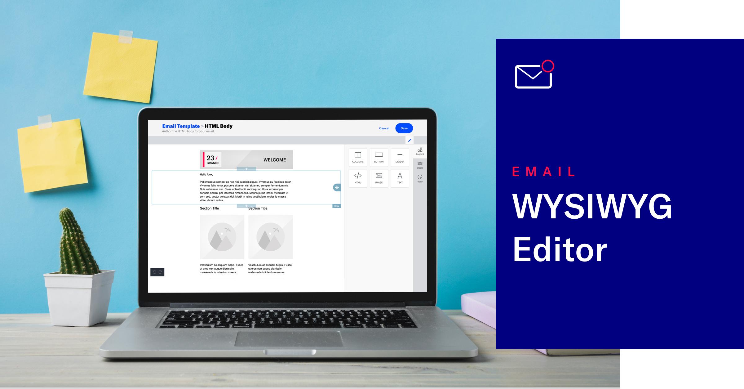 Email Template WYSIWYG Editor